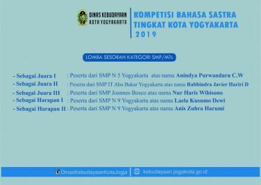 Penghargaan Lomba Sesorah Kategori SMP