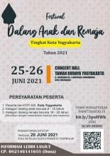 Festival Dalang Anak dan Remaja Tingkat Kota Yk Tahun 2021
