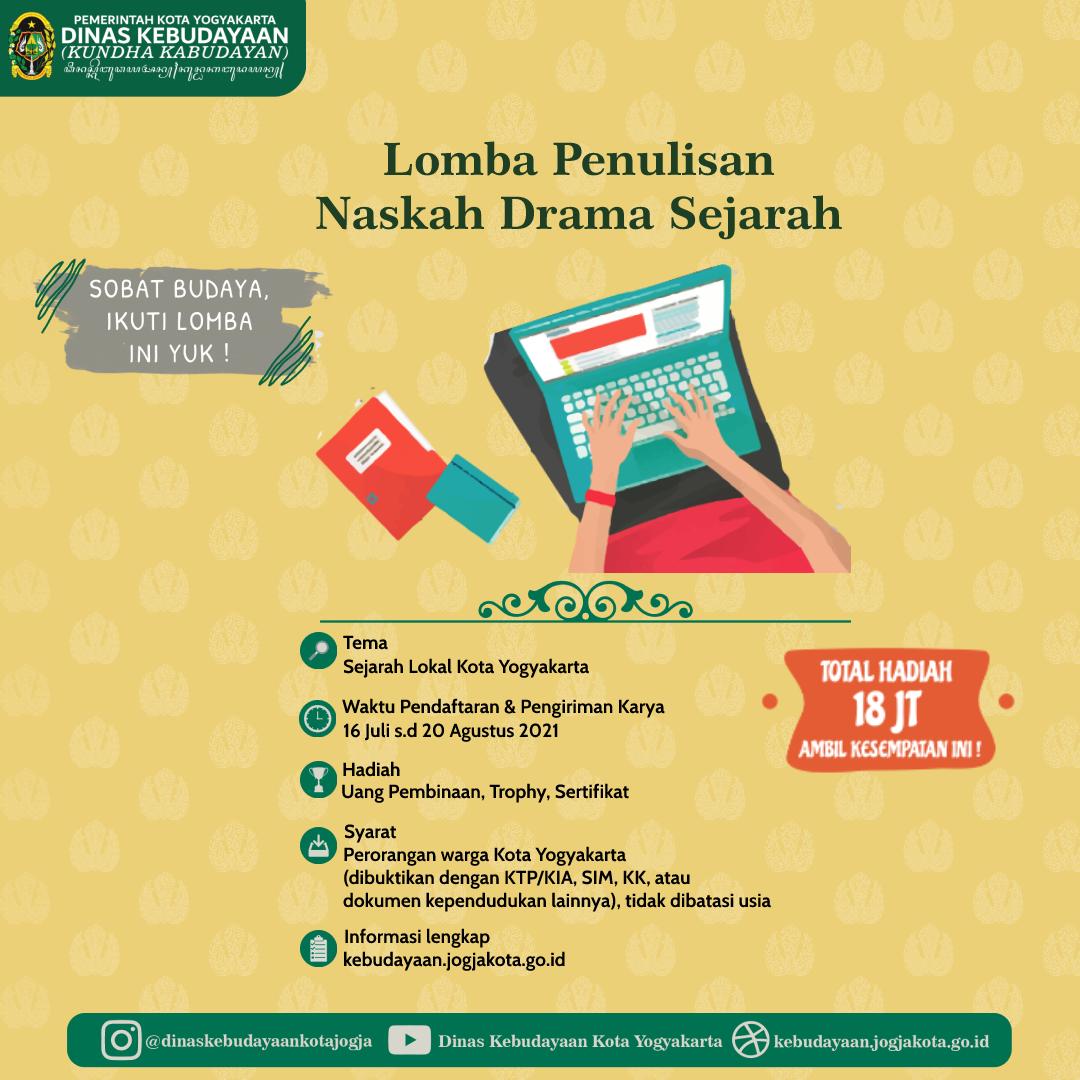 Lomba Penulisan Naskah Drama Sejarah Lokal Kota Yogyakarta