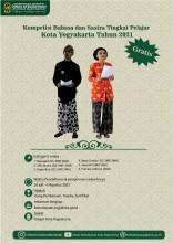 Panduan dan Link Pendaftaran Kompetisi Bahasa dan Sastra Kategori Pelajar Kota Yogyakarta Tahun 2021
