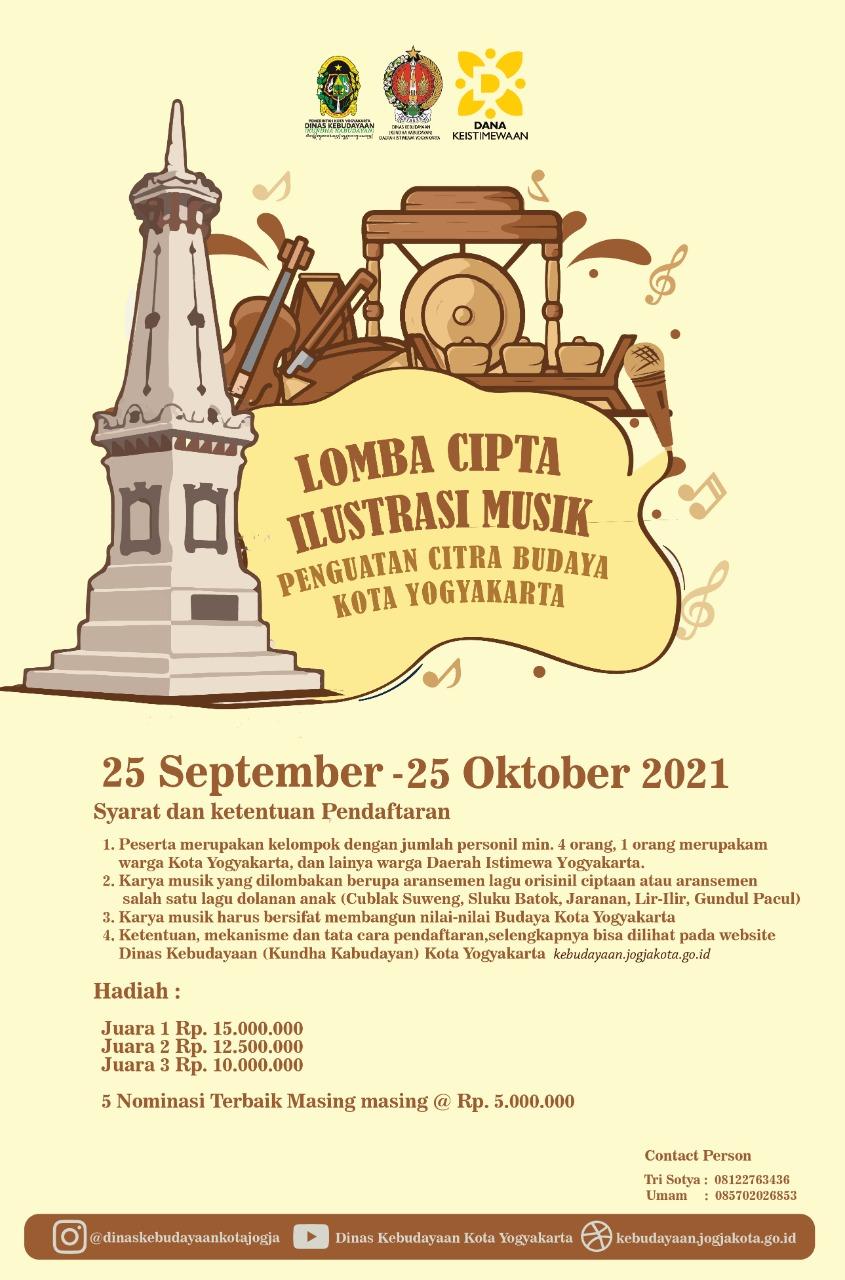 Lomba Cipta Ilustrasi Musik Penguatan Budaya Kota Yogyakarta